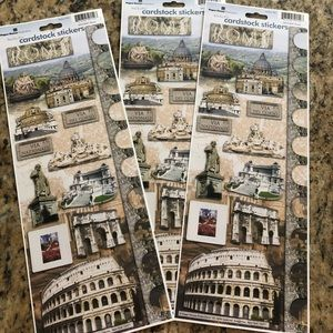Other - Rome Italy scrapbook stickers